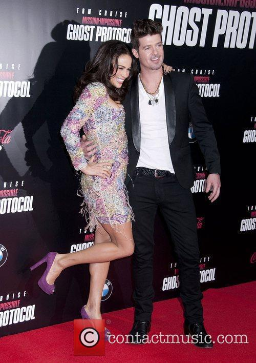Paula Patton, Robin Thicke and Ziegfeld Theatre 11