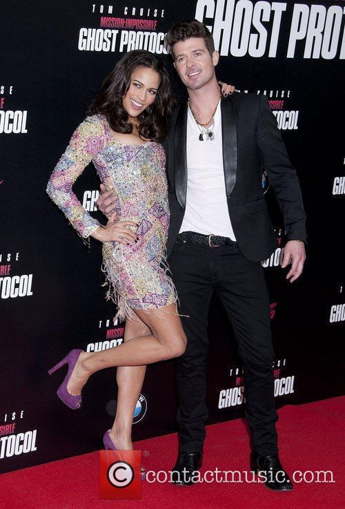 Paula Patton, Robin Thicke and Ziegfeld Theatre 12