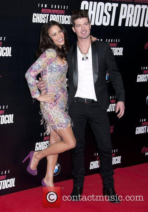 Paula Patton, Robin Thicke and Ziegfeld Theatre 10