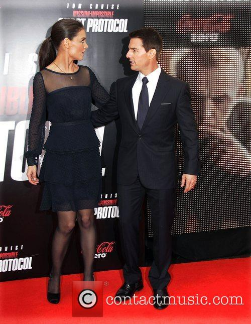 Katie Holmes, Tom Cruise and Ziegfeld Theatre 16