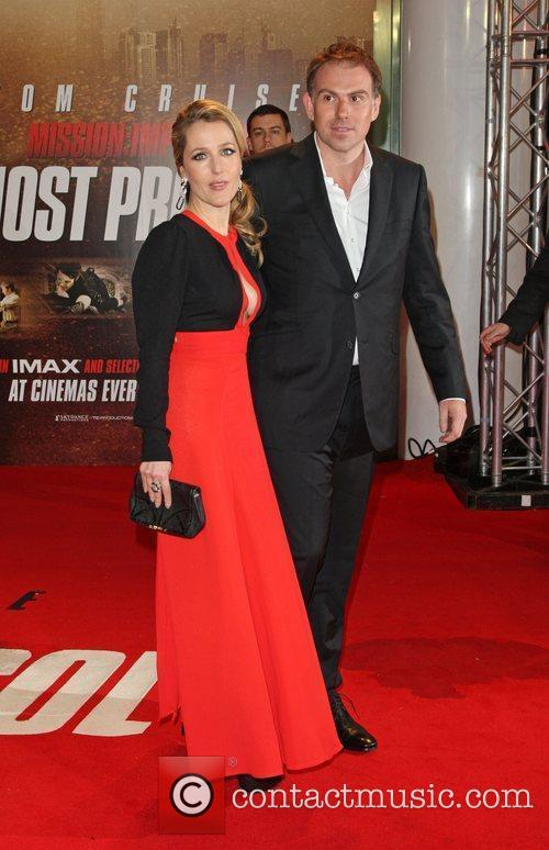 Gillian Anderson and husband Mark Griffiths Mission: Impossible...