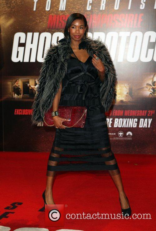 Tolula Adeyemi Mission: Impossible - Ghost Protocol premiere...