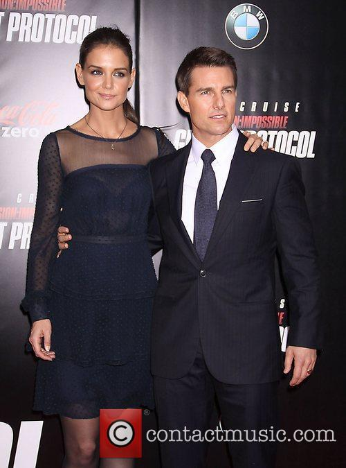 Katie Holmes, Tom Cruise and Ziegfeld Theatre 26