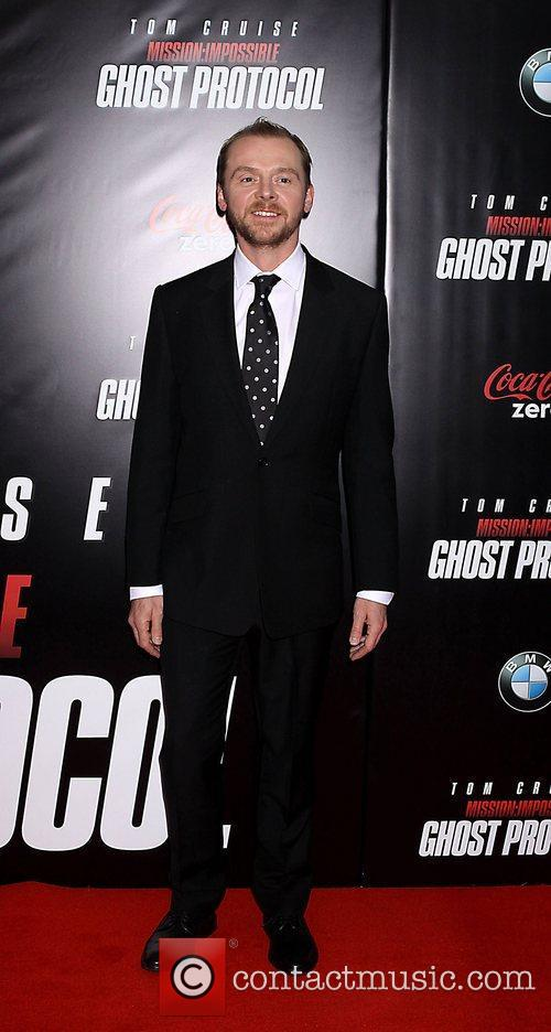 Simon Pegg and Ziegfeld Theatre 4