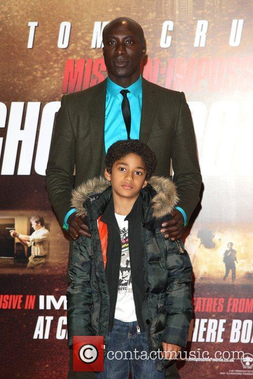 Ozwald Boateng with son Mission: Impossible - Ghost...