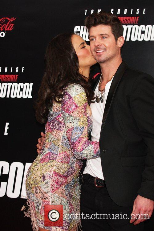 Paula Patton, Robin Thicke and Ziegfeld Theatre 3