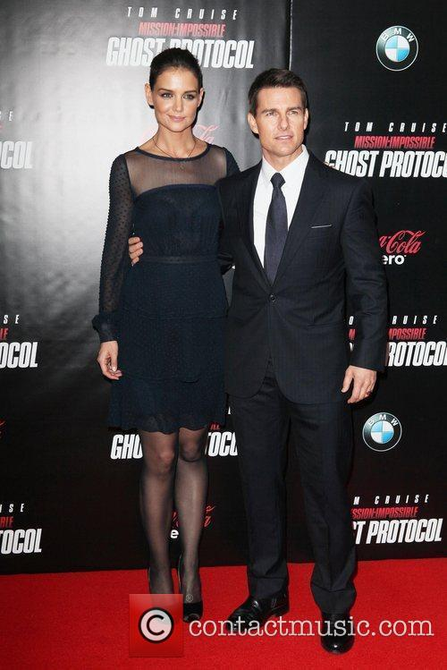 Katie Holmes, Tom Cruise and Ziegfeld Theatre 11