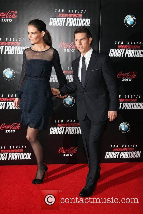 Katie Holmes, Tom Cruise and Ziegfeld Theatre 6