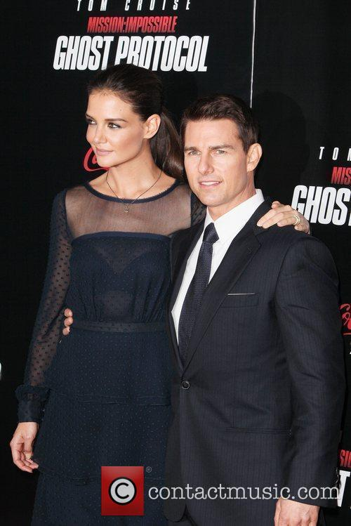 Katie Holmes, Tom Cruise and Ziegfeld Theatre 9