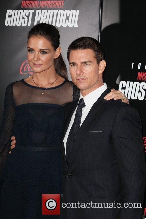 Katie Holmes, Tom Cruise and Ziegfeld Theatre 14