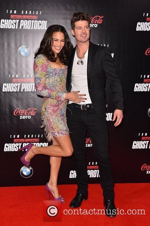 Paula Patton, Robin Thicke and Ziegfeld Theatre 5