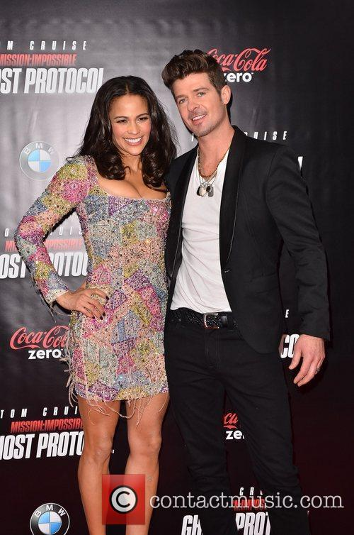 Paula Patton, Robin Thicke and Ziegfeld Theatre 6