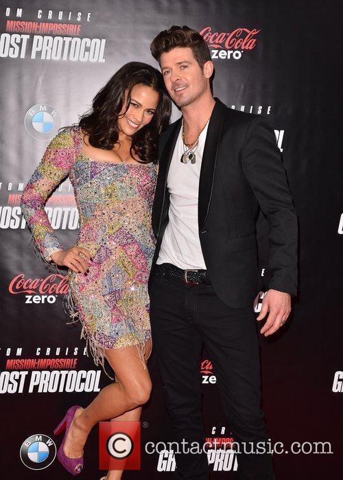 Paula Patton, Robin Thicke and Ziegfeld Theatre 2