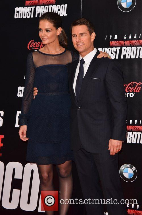 Tom Cruise, Katie Holmes and Ziegfeld Theatre 6