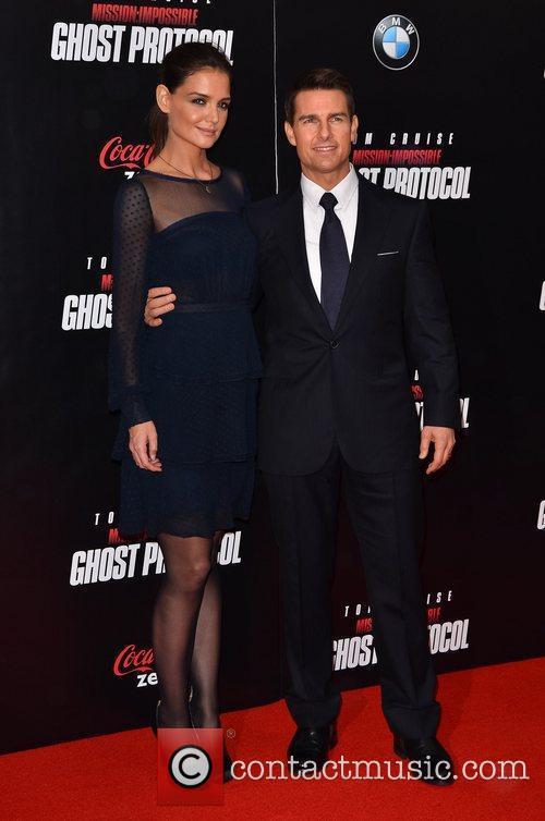 Tom Cruise, Katie Holmes and Ziegfeld Theatre 10