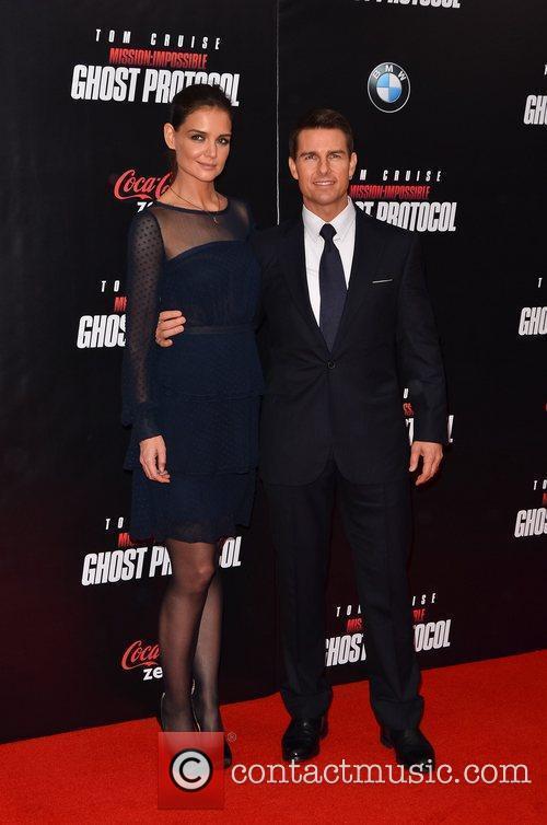 Tom Cruise, Katie Holmes and Ziegfeld Theatre 1