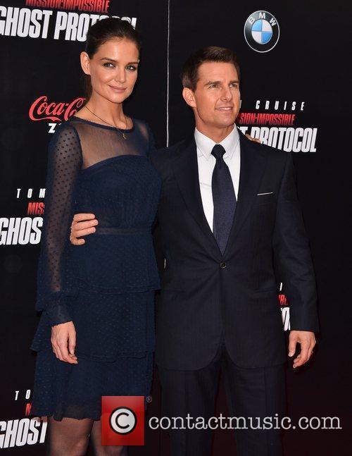 Tom Cruise, Katie Holmes and Ziegfeld Theatre 8