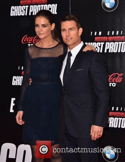 Tom Cruise, Katie Holmes and Ziegfeld Theatre 10