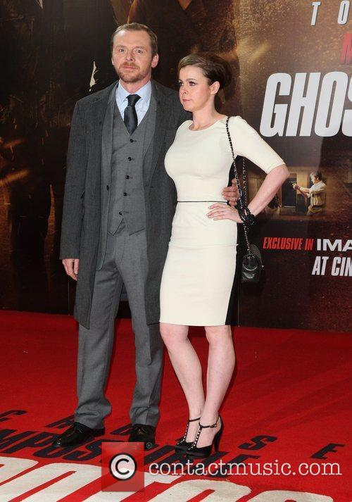 Simon Pegg with his wife Mission: Impossible Ghost...