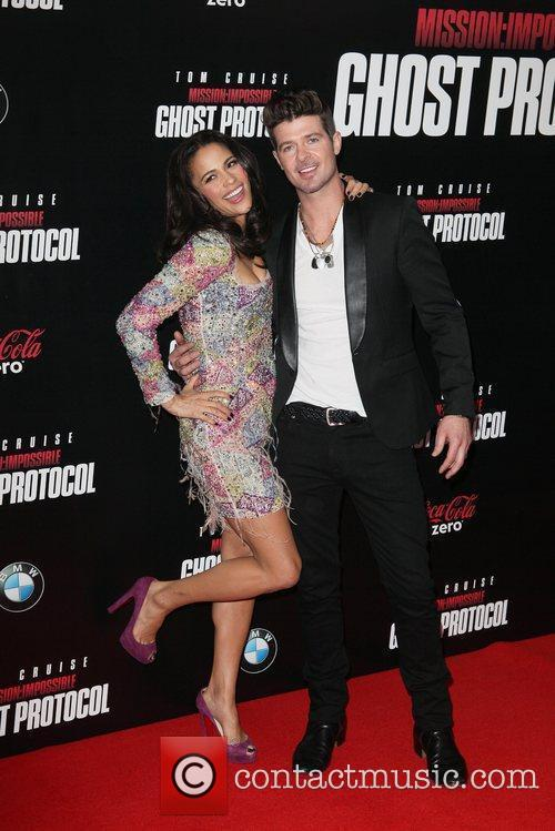 Paula Patton, Robin Thicke and Ziegfeld Theatre 8