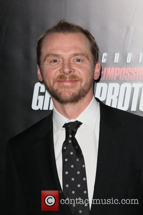 Simon Pegg and Ziegfeld Theatre 2