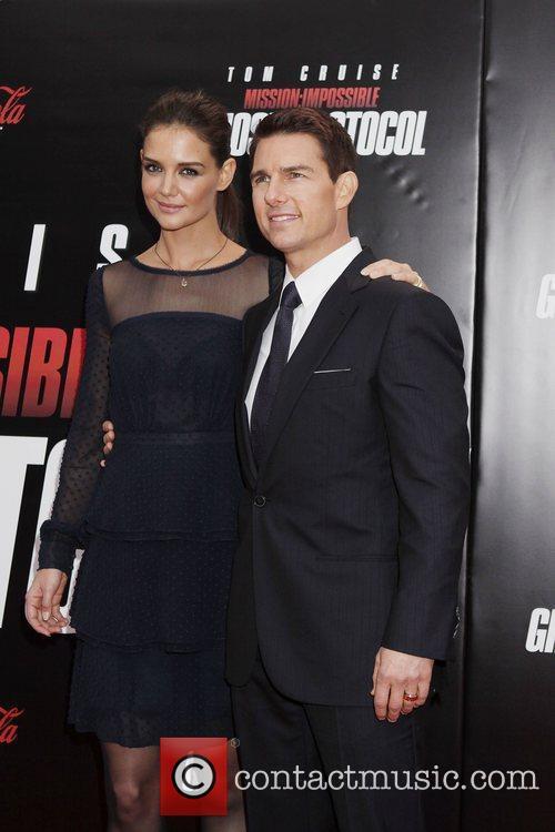 Katie Holmes, Tom Cruise, Ziegfeld Theatre