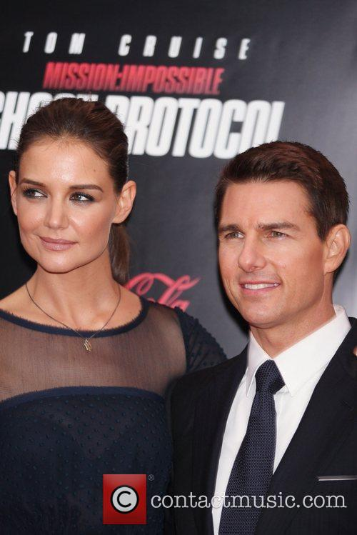 Katie Holmes, Tom Cruise and Ziegfeld Theatre 4