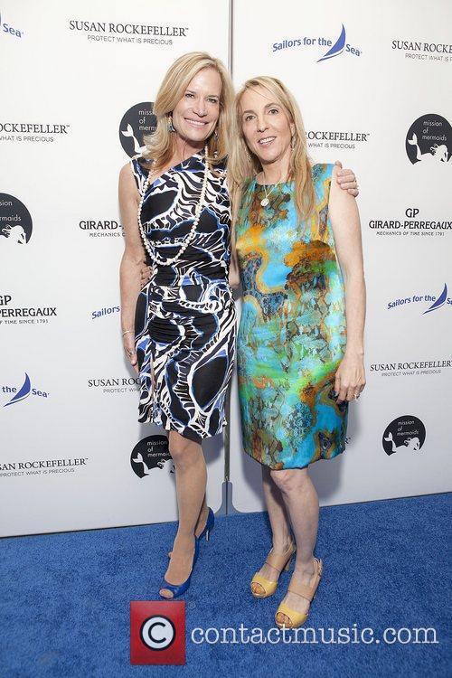 Cynthia Davis and Susan Rockefeller at the Girard-Perregaux...