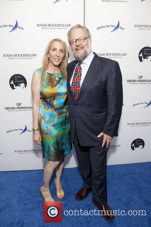 Susan and David Rockefeller at the Girard-Perregaux honors...