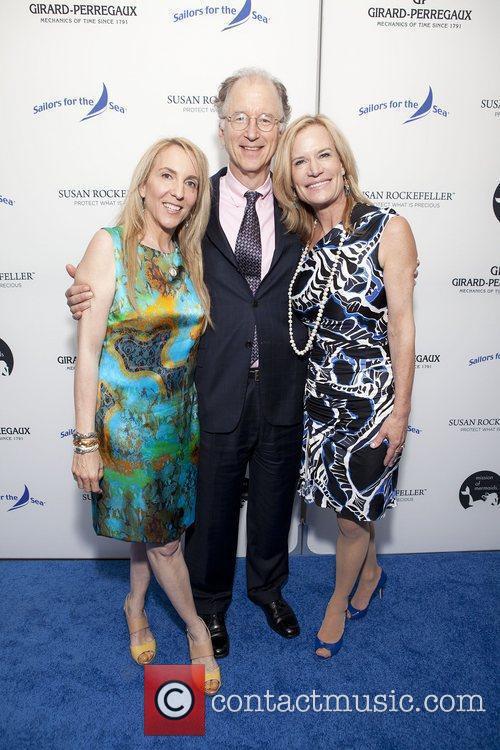 Susan Rockefeller and Andy Sharpless and Cynthia Davis...