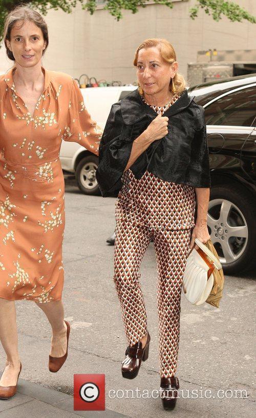 Italian fashion designer Miuccia Prada out and about...