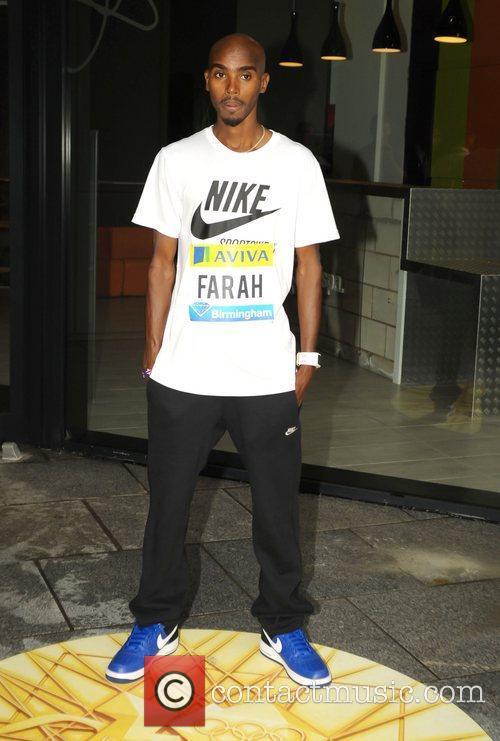 Mo Farah attends the Aviva Birmingham Grand Prix...