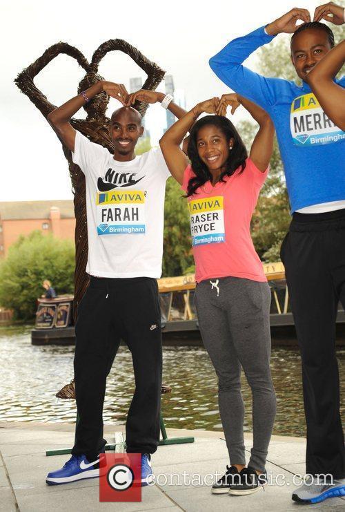 Shelly-Ann Fraser-Pryce, LaShawn Merritt and Mo Farah The...