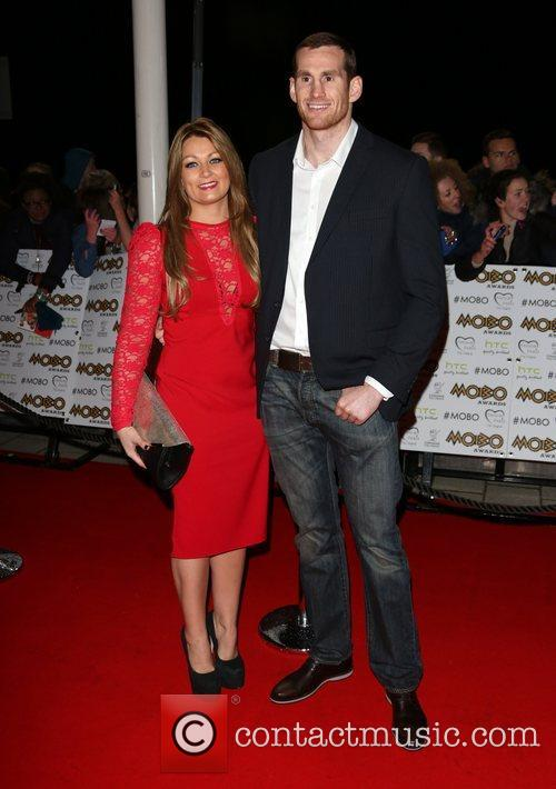 David Price and wife The MOBO awards 2012...