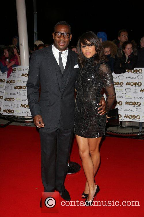 Louise Hazel and guest The MOBO awards 2012...