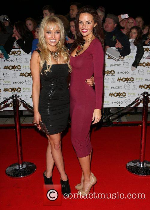 Jorgie Porter and Jennifer Metcalfe The MOBO awards...
