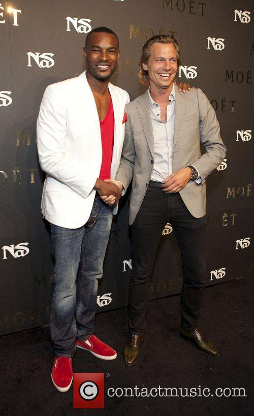 Tyson Beckford and Ludovic du Plessis  Moet...