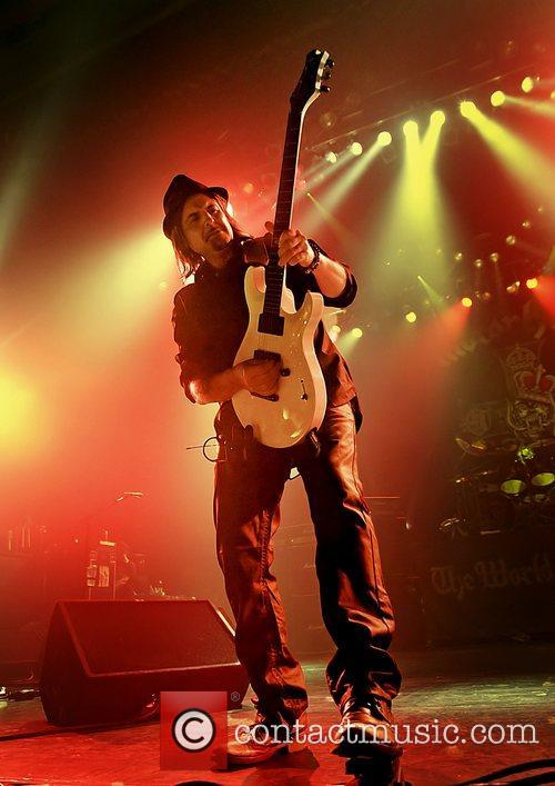Phil Campbell of Motorhead performing at Manchester O2...