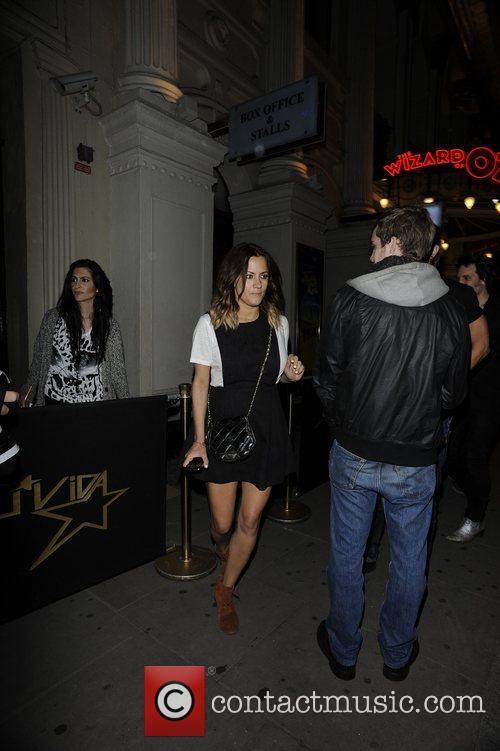 Caroline Flack  Celebrities outside Movida nightclub...