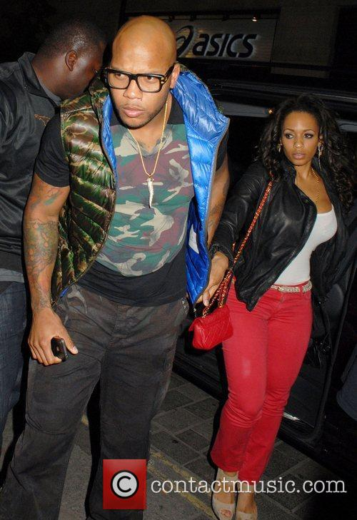 Flo Rida  Celebrities outside Movida nightclub London,...