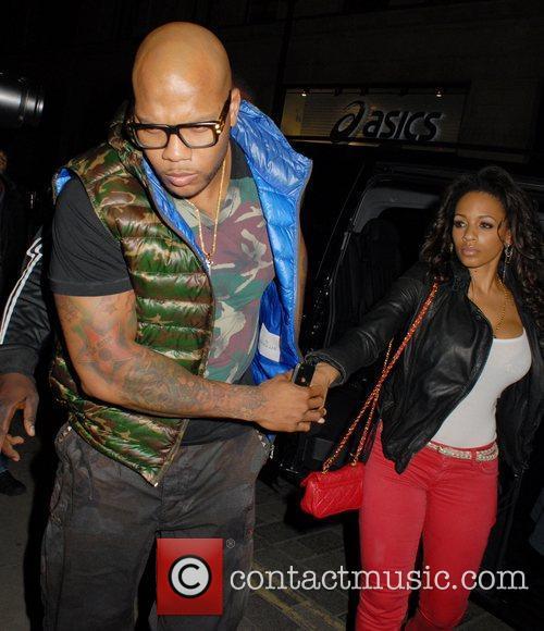 Celebrities outside Movida nightclub
