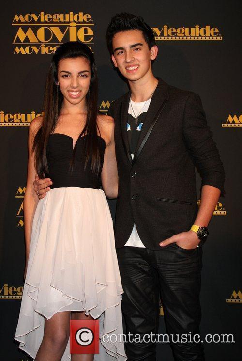 Savannah Hudson and Brandon Hudson 2012 Movieguide awards...