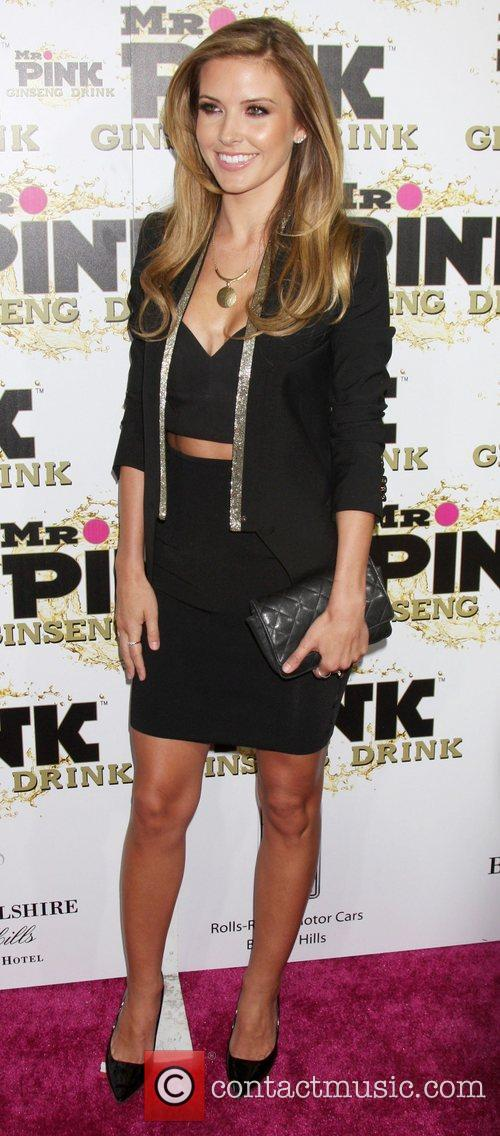 Audrina Partridge Mr. Pink's Ginseng Energy Drink launch...