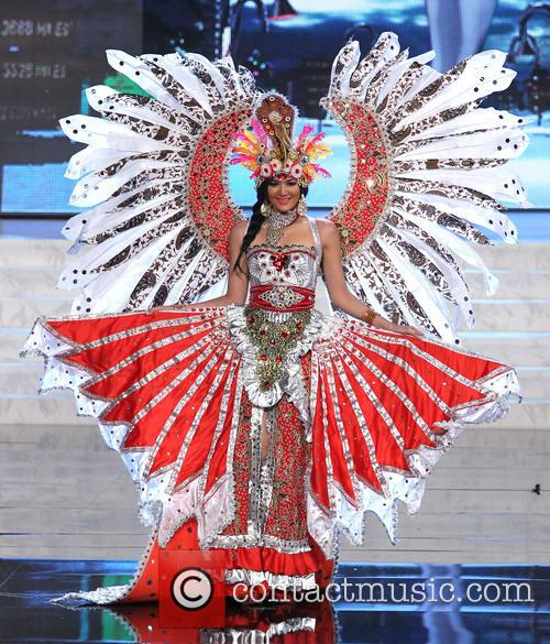 Miss Universe Pageant Costume, Show At, Live Theatre Inside Planet, Hollywood Resort and Casino Las Vegas 6