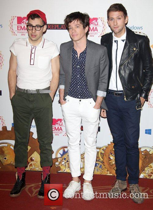 Musicians Jack Antonoff, Nate Ruess, Andrew Dost, Fun