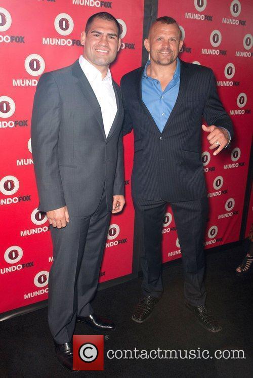 Cain Velasquez and Chuck Liddell MundoFOX Launch Party:...