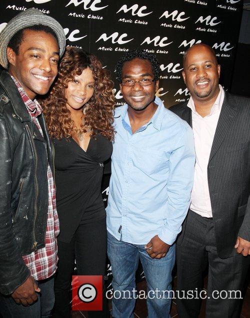 Austin Brown, Pepper, Nolan Ba attend the Music...
