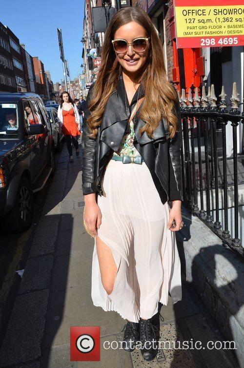 Former Miss Universe Ireland Rozanna Purcell outside Muzu...