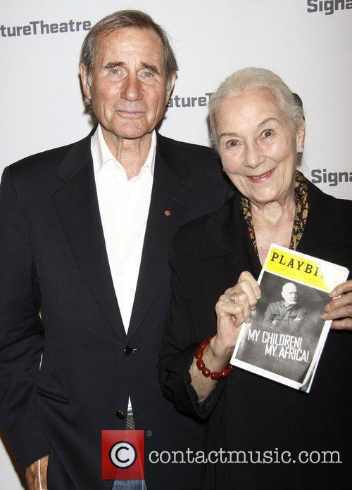 Jim Dale and Rosemary Harris  Opening night...