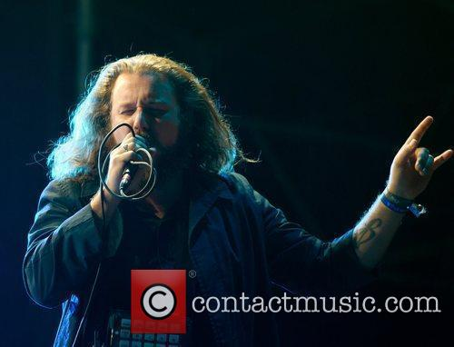 Jim James of My Morning Jacket performing live...